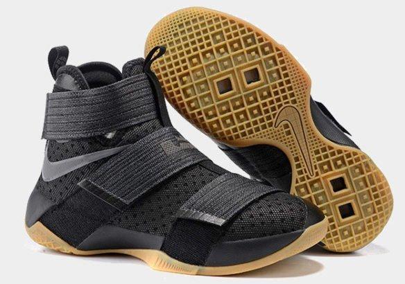Фото Nike LeBron Soldier 10 Black Gum черные - 3