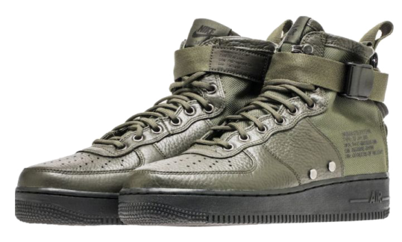 Фото Nike SF Air Force 1 Mid Зеленые - 3